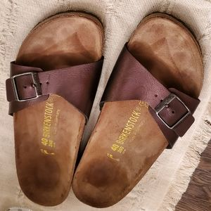Purple Leather Madrid Birkenstocks Size 40